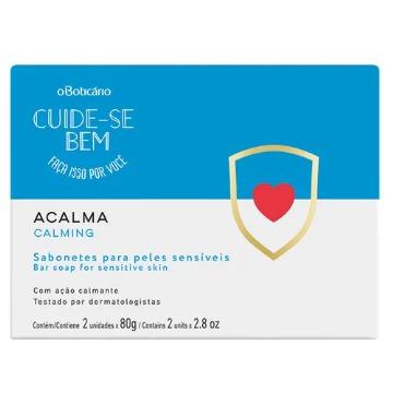 74935 Sabonete Barra Cuide Se Bem Acalma Boticário 2 Unidades 80g(cada)