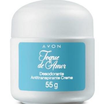 501084 Desodorante Creme Toque de Amor Avon 55g