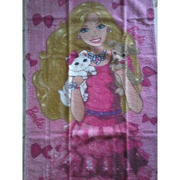 804721 Toalha Banho Felpuda Barbie Lepper