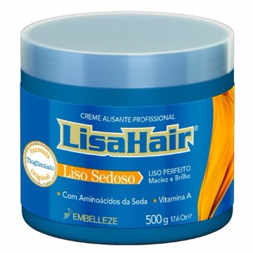 48904 Creme Alisante Embelleze LisaHair Profissional Liso Sedoso 500g