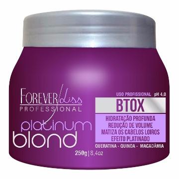 11114 Hidratação Platinum Blond Btox Intensive Matizador Forever Liss 250gr