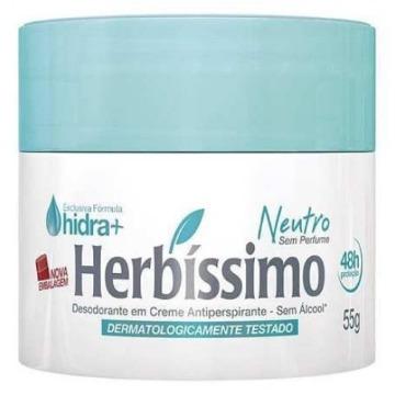 528505 Desodorante Creme Herbíssimo Neutro 55g