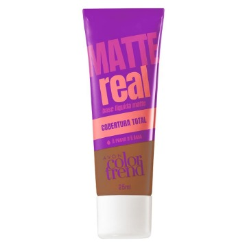 511217 Base Matte Real Colortrend Marrom Claro Avon 25ml