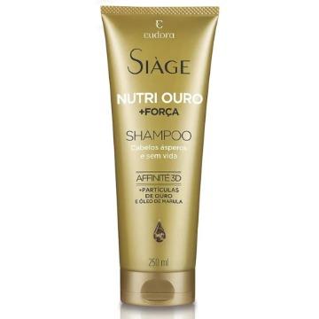 91807 Shampoo Siàge Nutri Ouro Cabelos Ásperos e sem Vida Eudora 250ml