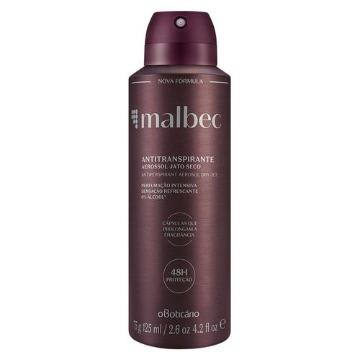 22725 Desodorante Aerossol Malbec Boticário 75g