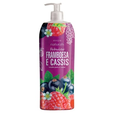 531421 Hidratante Naturals Framboesa e Cassis Avon 750ml