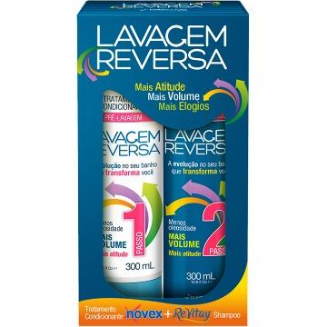 61989 Kit Shampoo+Condicionador Novex ReVitay Lavagem Reversa 2X 300ml