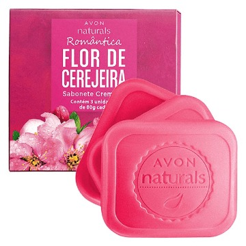 511446 Sabonete Barra Naturals Flor de Cerejeira Avon 3 Unidades 80g (cada)