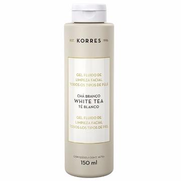 460060 Gel Fluido de Limpeza Facial Chá Branco Todos os Tipos de Pele Korres 150g
