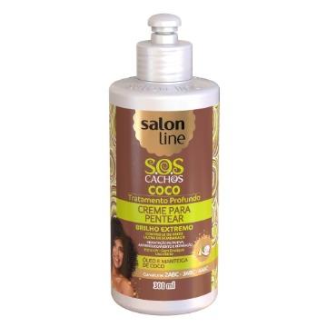 348516 Creme para Pentear S.O.S Cachos Coco Tratamento Profundo Salon Line 300ml