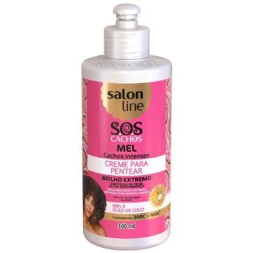 952737 Creme Pentear Cachos S.O.S Cachos Intensos Mel Salon Line 300ml