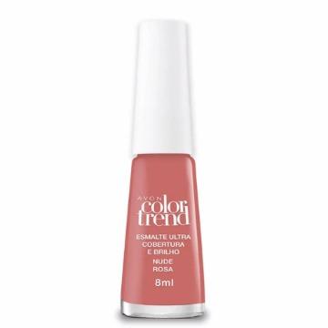 527822 Esmalte Colortrend Longa Duração Nude Rosa Avon 8ml