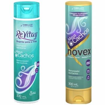 57111 Kit Shampoo+Condicionador Revitay Meus Cachos Novex 2X300ml