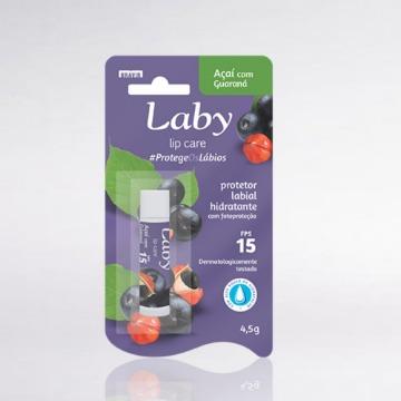 618629 Protetor Labial Hidratante Açaí com Guaraná Laby FPS 15 4,5g