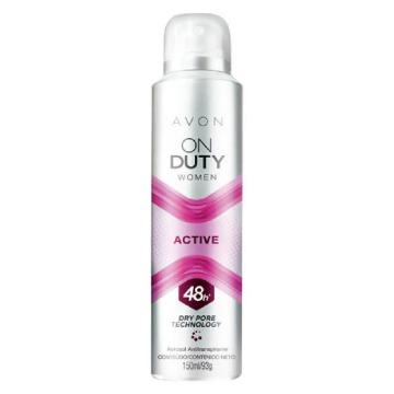 507922 Desodorante Aerossol On Duty Active Women 48h Avon 150ml