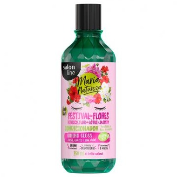 951877 Condicionador Salon Line Maria Natureza Festival Flores Brilho Gloss 350ml