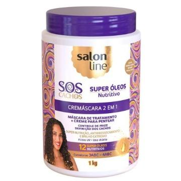 348479 Cremáscara 2x1 S.O.S Cachos Nutritivo Super Óleos Salon Line 1kg