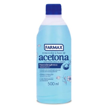 209138 Removedor de Esmalte Base Acetona Farmax 500ml