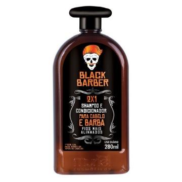 117036 Shampoo para Barba 2X1 Black Barber Muriel 280ml