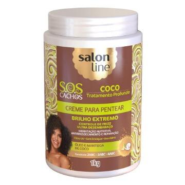 952751 Creme para Pentear S.O.S Cachos Coco Tratamento Profundo Salon Line 1kg