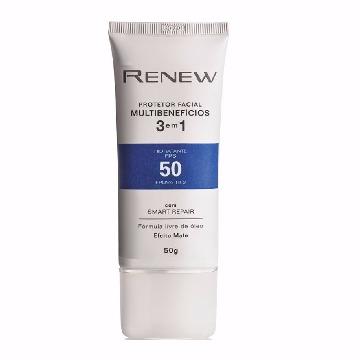 510129 Protetor Facial Multibenefícios Renew 3 em 1 FPS 50 50g