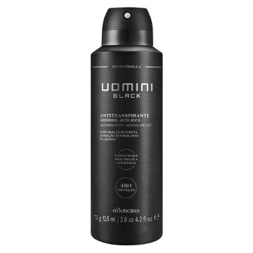 20201 Desodorante Aerossol Uomini Black Boticário 125ml