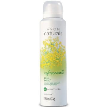 513482 Desodorante Aerossol Naturals Erva Doce Avon 150ml