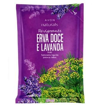488884 Sabonete Líquido Naturals Erva Doce e Lavanda Refil Avon 250ml