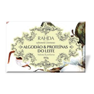 805210 Sabonete Barra Hidratante Algodão E Proteínas do Leite Rahda 100g