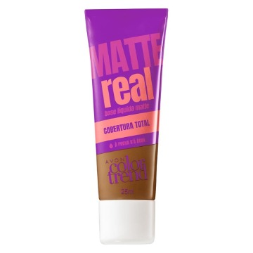 511238 Base Matte Real Colortrend Marrom Escuro Avon 25ml