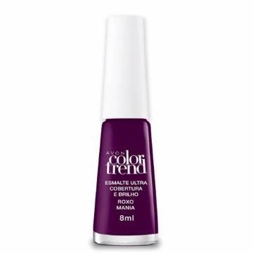 515237 Esmalte Colortrend Roxo Mania Avon 8ml
