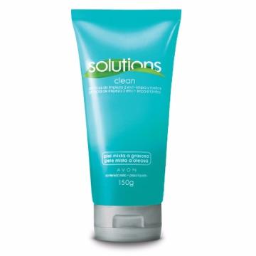 505788 Gel Limpeza Facial Solutions 2 em 1 Pele Mista a Oleosa Avon 150g