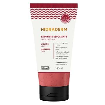 209817 Sabonete Líquido Farmax Morango Esfoliante Hidraderm 180ml