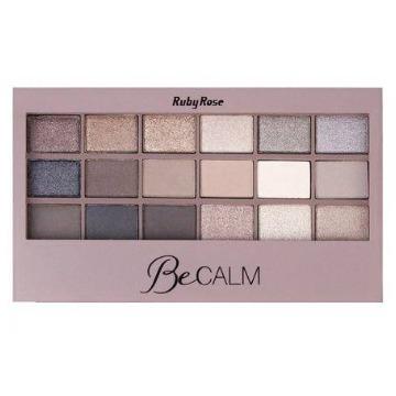 180077 Paleta Maquiagem 18 Sombras e Primer BeCalm Ruby Rose