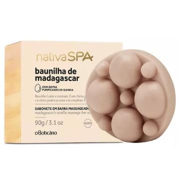 72069 Sabonete Barra Baunilha de Madagascar Nativa SPA 90g (cada) Boticário