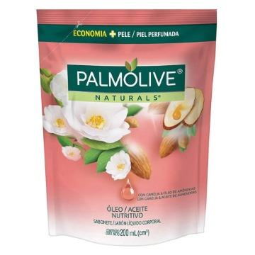 032886 Sabonete Líquido Naturals Óleo Nutritivo Com Camélia & Óleo de Amêndoas Refil Palmolive 200ml
