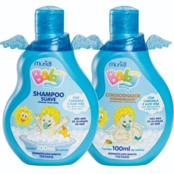 112727 Kit Shampoo e Condicionador Baby Menino Muriel 100ml (cada)