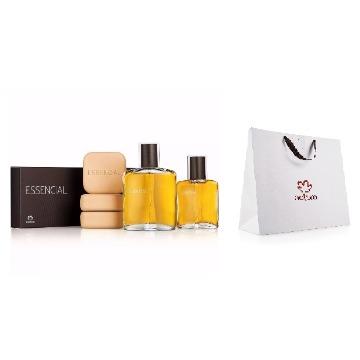 20124 Kit 2 Deo Parfum Essencial Masculino Natura + Sabonete Barra