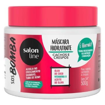 348264 Máscara Hidratante S.O.S Bomba Cachos e Crespos Salon Line 500g