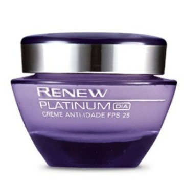 512849 Creme Facial Renew Platinum Anti-Idade 60 FPS 25 Dia Avon 50g