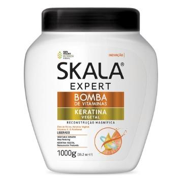 207066 Creme de Tratamento Condicionador Bomba de Vitaminas Keratina Vegetal Skala 1000g