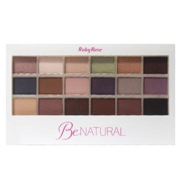 180079 Paleta Maquiagem 18 Sombras e Primer BeNatural Ruby Rose