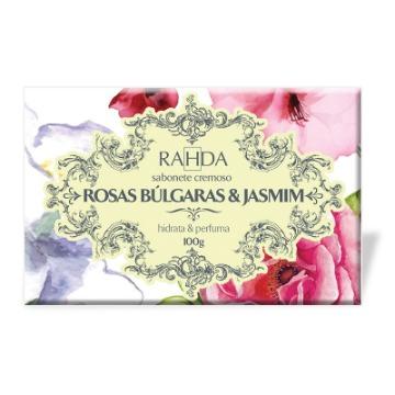 805208 Sabonete Barra Hidratante Rosas Búlgaras E Jasmim Rahda 100g