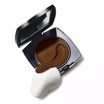 238756 Base Compacta Ideal Face Múltipla Ação Marrom Café 9 FPS 15 Regular Avon 9g