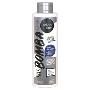 347694 Shampoo S.O.S Bomba Anticaspa Men Salon Line 300ml
