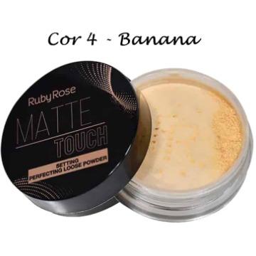 28310 Pó Banana Matte Touch Cor 4 Ruby Rose 8,5g