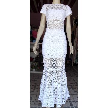 0220 Vestido de Crochê