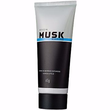 503068 Creme Barbear Espumoso Musk Marine Avon 65g