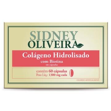 811967 Colágeno + Biotina 1300mg - Sidney Oliveira 60 Cápsulas Rahda
