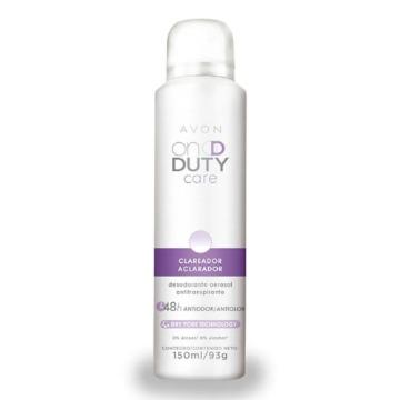 515606 Desodorante Aerossol On Duty Care Skin So Soft Clareador Avon  93g/ 150ml